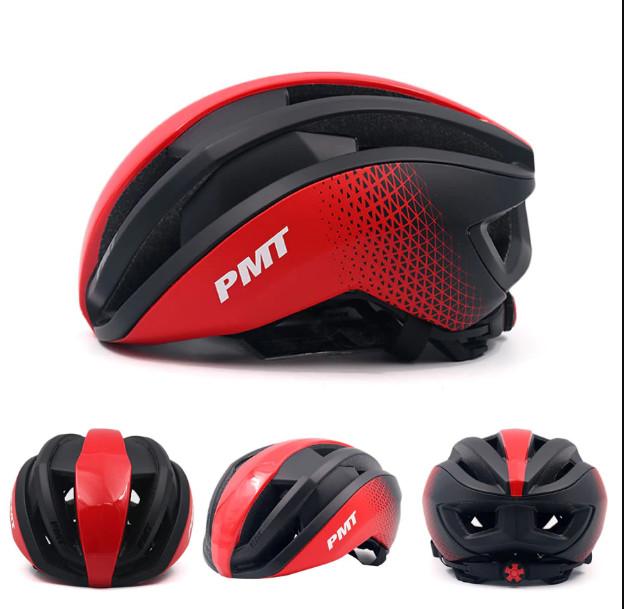 Mũ bảo hiểm thể thao PMT Pudi màu đỏ đen