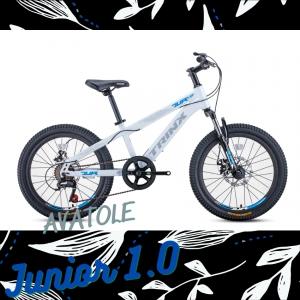 Xe đạp trẻ em TrinX Junior1.0 màu xám trắng