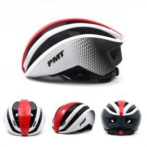 Mũ bảo hiểm thể thao PMT Pudi màu trắng đỏ